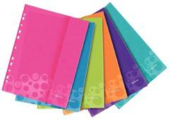Leitz Showtassen WOW 4707 DIN A4 Polypropyleen Roze, Blauw, Groen, Oranje, Lila, Turquoise 4707-00-99 6 stuks