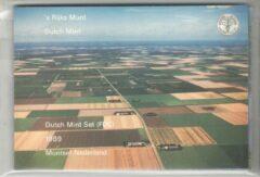 's Rijks Munt Nederland Jaarset Munten 1989 FDC - Flevoland