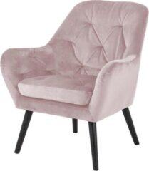 Lisomme velvet Arian fauteuil - Oud roze