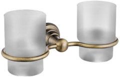 Dubbele Bekerhouder Sapho Diamond Hangend Brons / Melkglas