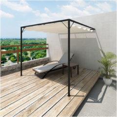Creme witte VidaXL - Partytent/Muurpaviljoen Spineda 3 x 3 m - met uitschuifbaar dak
