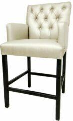 Witte Bankstyle - Style & Luxury Gecapitonneerde design barstoel in verschillende kleuren. Kleur: White