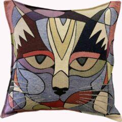 Sunar Home Kussenhoesjes - Kussenhoes - Sierkussenhoes -Cat design - Kussentjes - kussenhoes 45x45 cm