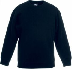 Fruit Of The Loom Kinder Unisex Premium 70/30 Sweatshirt (pak van 2) (Zwart)