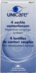 Unicare -5.25 - 4 stuks - Maandlens - Contactlenzen