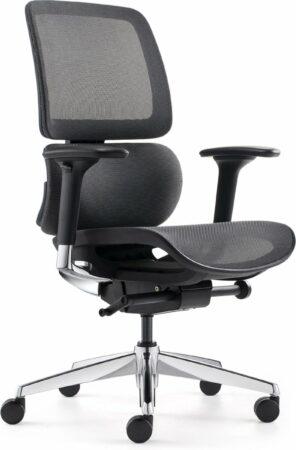 """Afbeelding van Blauwe BenS 839D-Synchro-3 Luxe ergonomische bureaustoel met een Synchro mechaniek, een in hoogte verstelbare (rug) lende steun en """"zwevende"""" zitting. Voldoet aan EN1335 en Arbo norm"""