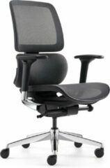 """Blauwe BenS 839D-Synchro-3 Luxe ergonomische bureaustoel met een Synchro mechaniek, een in hoogte verstelbare (rug) lende steun en """"zwevende"""" zitting. Voldoet aan EN1335 en Arbo norm"""