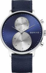 BERING 13242-507 - Horloge - Nylon -Zilverkleurig - 42 mm