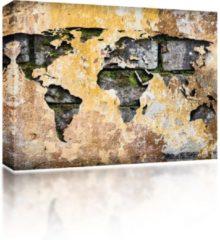 Reinders Sound Art - Canvas + Bluetooth Speaker Antique World Map (41 x 51cm)