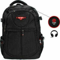 Rugzak Power - met laptop vak- 31x15x46 cm (9602-6) - zwart