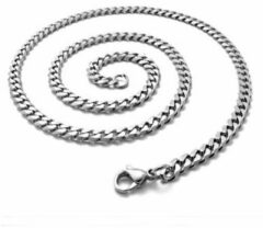 Zilveren Fashion Favorite RVS Schakelketting | 7,5 mm / 55 cm | 316 L Stainless Steel