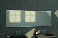 Douche Concurrent Badkamerspiegel Silhouette 200x70x2.5cm Geborsteld Aluminium Lijst