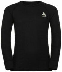 Odlo - Kid's Base Layer Top Crew Neck L/S Active Warm Eco - Synthetisch ondergoed maat 104, wit/grijs/zwart/olijfgroen/zwart/olijfgroen/rood/zwart/olijfgroe
