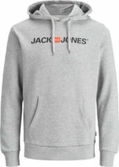 Jack & Jones Jack and Jones Hoodie Grijs Met Logo En Kangoeroezak Regular Fit - S