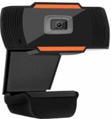 Merkloos / Sans marque Full HD Webcam met Microfoon - Webcam voor PC - Webcamera - Vergaderen - Werk & Thuis - School - USB - Windows & Mac - Zwart & Oranje