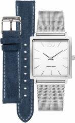 Zilveren Danish Design watches edelstalen dameshorloge Miami Set with extra strap IV62Q1248-SET