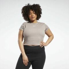 Grijze Reebok Classics Ribbed T-shirt (Plus Size)
