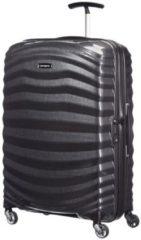 Zwarte Samsonite Lite-Shock Spinner 69 black Harde Koffer