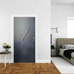 Paarse Wallstation Deursticker Bloemen 23 - 100 x 250 cm - Gratis installatie-kit - Snelle levering