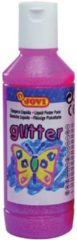 Plakkaatverf Jovi glitter flacon van 250 ml, roze