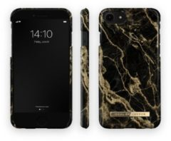 Goudkleurige IDeal of Sweden Fashion Backcover iPhone SE (2020) / 8 / 7 / 6(s) hoesje - Golden Smoke Marble