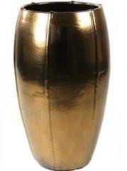 Gouden Ter Steege Moda pot high 53x53x92 cm Gold bloempot