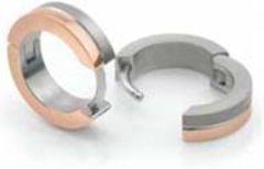 Zilveren Boccia Titanium Boccia 0510-12 oorringen - bicolor rosé- Titanium - 13 mm