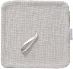 Licht-grijze Cottonbaby speendoekje Cottonsoft uni grijs