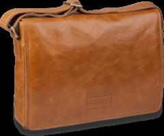 "Gouden Dbramante1928 Leather messenger bag Marselisborg - tan - voor up to 14"""