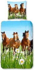 Kinderbettwäsche, Good Morning, »Horses«, mit Pferdemotiv