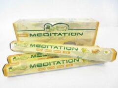 Tulasi wierook Tulasi meditatie wierook - 6 pakjes totaal 120 stokjes - meditation