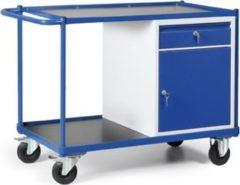 Protaurus TAUROFLEX Werkstattwagen 250 kg mit 1 Schrank und 1 Schublade, 115 x 60 x 84 cm