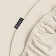 Grijze Marc O'Polo Marc O'Polo Jersey stretch hoeslaken - Lits-jumeaux (180/200x200/220 cm)