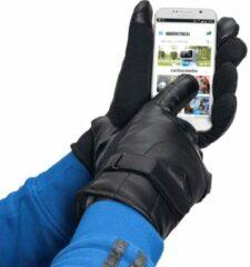 Merkloos / Sans marque Handschoenen voor Smartphone / Touchscreen - Kunstleer - Zwart