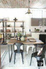 Zwarte Quip&Co Industriële eettafel