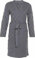 Grijze Knit Factory Badjas Ivy - Med Grey - S/M