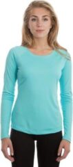 Blauwe Skinshield by Vapor Apparel - UPF 50+ UV-zonbeschermend dames performance T-shirt, lange mouwen XXL
