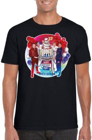 Afbeelding van Toppers official merchandise Toppers - Zwart Toppers in concert 2019 officieel t-shirt heren - Officiele Toppers in concert merchandise 2XL