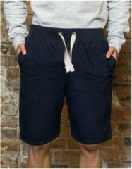 Marineblauwe Navy campus shorts sportbroek voor heren maat XXL