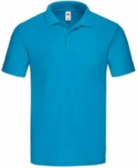 Fruit of the Loom Heren Origineel Piqué Poloshirt (Azuurblauw)