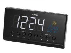 AEG Projektion Radiowecker mit Wetter-Anzeige MRC 4141 P schwarz - AEG