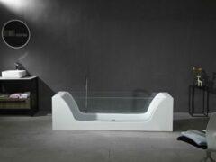 Mawialux vrijstaand bad | Solid surface | 200x65 cm | Mat wit | ML-113-VBMG-MW