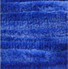 Merkloos / Sans marque 40x Blauw chenille draad 14 mm x 50 cm - Buigbaar draad - Pluche chenillegaren/chenilledraden - Hobbymateriaal om mee te knutselen