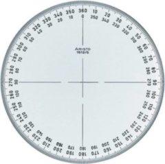 Transparante Kompasroos Aristo 360° 12 cm glashelder plexiglas