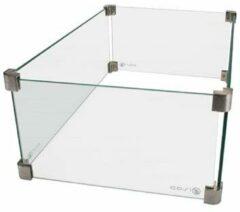 Transparante Cosi Cosiburner Rectangular Glasset