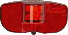Smart achterlicht bagagedrager led rood/zwart