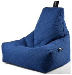 Donkerblauwe Extreme Lounging b-bag - Luxe zitzak - Indoor en outdoor - Waterafstotend - 95 x 95 x 90 cm - Polyester - Quilted Royal Blauw