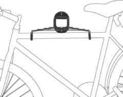 Zwarte Relaxdays Ophangsysteem fiets - Ophangbeugel / fietsophangsysteem muur - Incl. rooster.