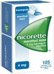 Nicorette Kauwgom 4 Mg Menthol Mint (105st)