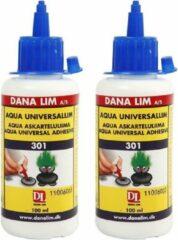 Merkloos / Sans marque Set van 2x Universele hobby/ knutsel lijm op waterbasis 100 ml - Knutsel hobbymaterialen
